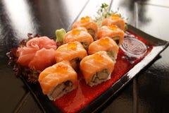 Sushi giapponesi tradizionali Fotografia Stock