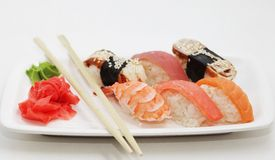 Sushi. good japanese food. Stock Photo