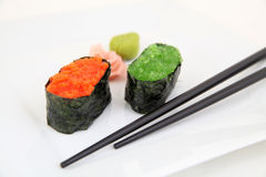 Sushi gunkan with caviar, tobiko. Japanese food Stock Images