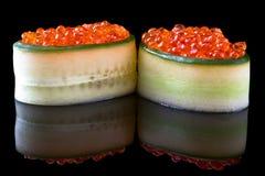 Sushi gunkan ikura Royalty Free Stock Photo
