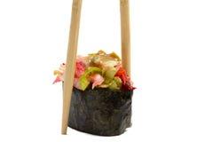 Sushi gunkan isolated on white background royalty free stock photos