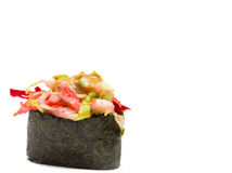 Sushi gunkan isolated on white background Stock Images