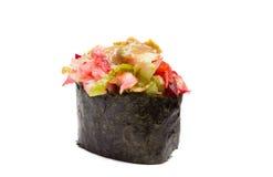 Sushi gunkan isolated on white background stock photo