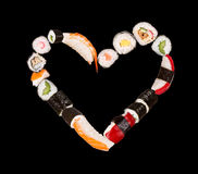 Sushi heart Royalty Free Stock Photo