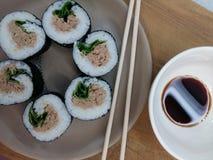Sushi hecho en casa de Paleo Fotografía de archivo