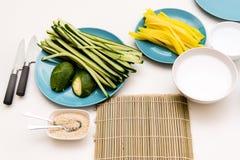Sushi het voorbereidingen treffen Royalty-vrije Stock Afbeelding