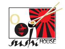 Sushi house Royalty Free Stock Images