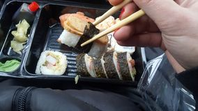 Sushi i Polen royaltyfria bilder