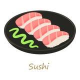 Sushi icon, cartoon style Stock Image