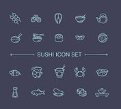 Sushi icon collection Vector Royalty Free Stock Photography