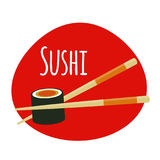 Sushi Icon. Traditional Japanese Food. Vector Illustration. EPS10 vector illustration