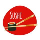 Sushi Icon. Traditional Japanese Food. Vector Illustration Royalty Free Stock Image