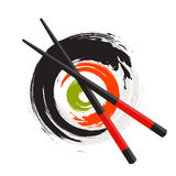 Sushi Icon. Traditional Japanese Food. Vector Illustration Stock Images