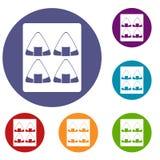 Sushi icons set Royalty Free Stock Photography