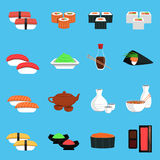 Sushi Icons Set Royalty Free Stock Photography
