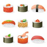 Sushi icons set Royalty Free Stock Photo