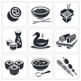 Sushi Icons set Royalty Free Stock Image