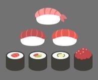 Sushi icons. Stock Photos