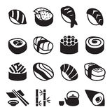 Sushi icons Royalty Free Stock Photo