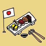 Sushi. Illustration of a set of hand draw sushi Stock Photo