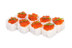 Sushi Imperial. Isolated on a white background Stock Photo