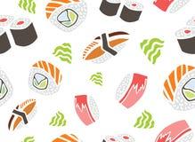 Sushi inconsútil del modelo Imagenes de archivo