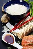 Sushi ingredients Royalty Free Stock Image