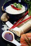 Sushi ingredients Stock Image