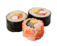 Sushi. (isolated) Stock Images