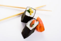 Sushi isolated object. Isolated object of sushi on a white background Stock Photography