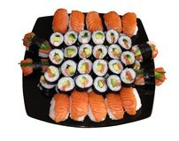Free Sushi Isolated On The White Background Stock Image - 16734951