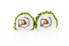 Sushi isolated on white. Royalty Free Stock Photos