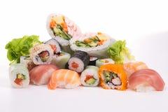 Sushi isolated on white Stock Photos