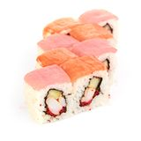 Sushi, isolated on white. Royalty Free Stock Image