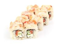 Sushi, isolated on white. Royalty Free Stock Photos