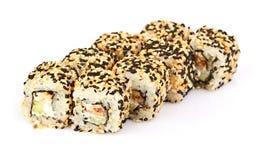 Sushi, isolated on white. Royalty Free Stock Photos