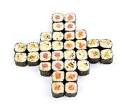 Sushi, isolated on white. Royalty Free Stock Images