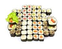 Sushi, isolated on white. Royalty Free Stock Image