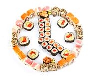 Sushi, isolated on white. Royalty Free Stock Photo