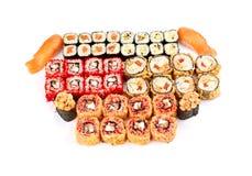 Sushi, isolated on white. Stock Photos