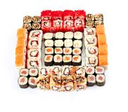 Sushi, isolated on white. Royalty Free Stock Photography
