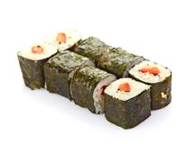 Sushi, isolated on white. Stock Photo