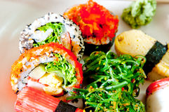 Sushi Janpanese food. Delicious Sushi Janpanese food Royalty Free Stock Photo