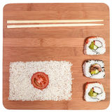 Sushi japan flag Royalty Free Stock Photo