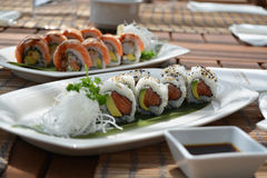 Sushi japan food  Royalty Free Stock Photos