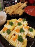 Sushi and Japan food. Japan food is popular and delicious royalty free stock image