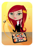 SUSHI (Japanese Cuisine) Royalty Free Stock Photos
