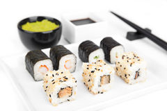 Sushi, japanese cuisine Stock Photography