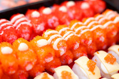 Sushi Japanese Cuisine. In restuarant Royalty Free Stock Image