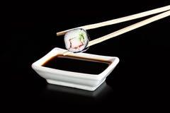Sushi - Japanese cuisine with sushi rice Stock Photos